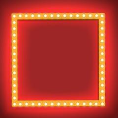 Retro shining frame Light bulb