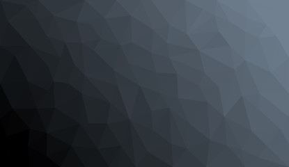 Black Grey Gradient abstract polygon background