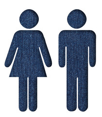 Man and woman in jeans