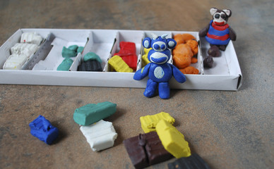 Education for children, Plasticine. A soft modeling material, used especially by children.
