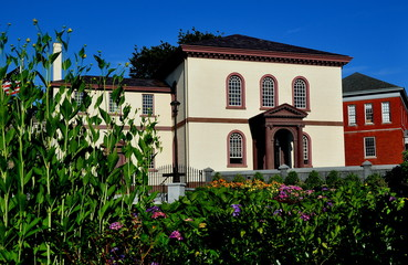 Newport, Rhode Island - July 16, 2015: 1763 Touro Synagogue, built by the Jeshuat Israel colonial congregation, is the oldest Jewish synagogue in the United States