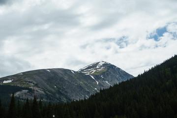 Quandry Peak Against a Cloudy Sky