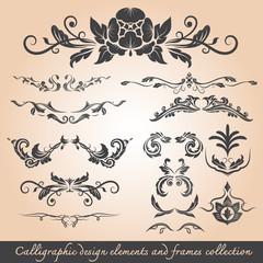 roman design elements : Calligrapic desing elements and frames c
