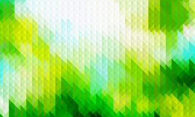 Abstract geometric triangle background, green wallpaper