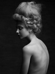 Woman with retro hairstyle
