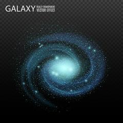 Galaxy. Really transparent vector galaxy effect. Spiral galaxy. Galaxy template. Galaxy background. Element galaxy.