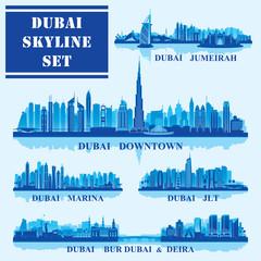 Set of Dubai districts