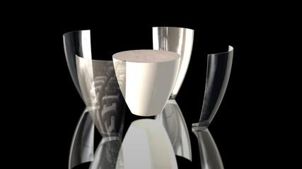 milk glass split