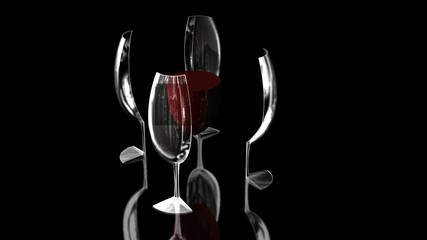 wine glass split