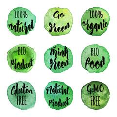 Vector natural organic badges and labels