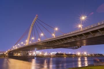 Dazhi Bridge light up at night