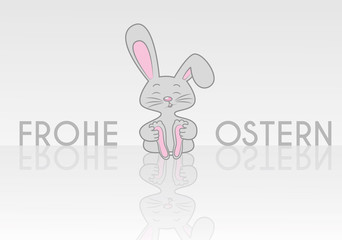 Frohe Ostern Logo mit Osterhase
