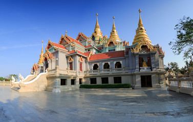 Phra Mahathat Chedi Phakdi Prakat is landmark of Prachuap Khiri Khan ,Thailand (6 March 2016)