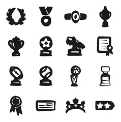 Reward Or Prize Icons Freehand Fill
