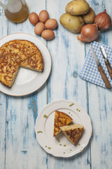 Spanish Omelette eggs and onion