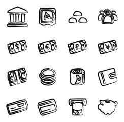 Money Icons Freehand