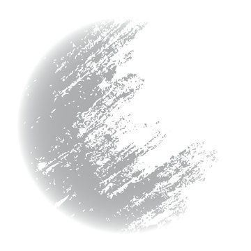 grunge half-moon texture or background, illustration design element