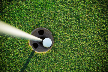 Printed roller blinds Golf Close-up of golf ball.