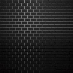 Dark brick wall. Vector background.