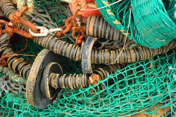 Fischernetz grün,orange