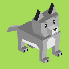 Wild Animal Wolf Isometric 3d Design