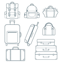 Vector bag icons