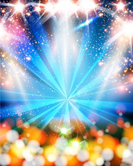 Light neon party background easy all editable