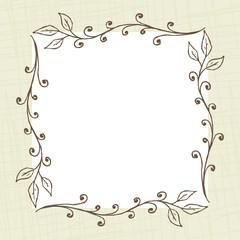 Square Floral Frame Background