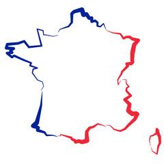 Fototapeta Francja - mapa