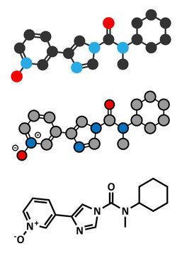 BIA 10-2474 experimental drug molecule. Fatty acid amide hydrola