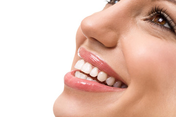 Great smile with straight white teeth