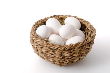 Weiße Hühnereier