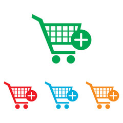 Shopping Cart and add Mark Icon