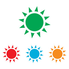 Sun sign. Colorfull set