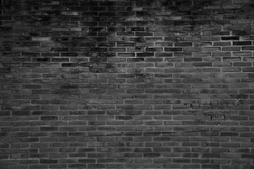 black grunge brick wall texture background