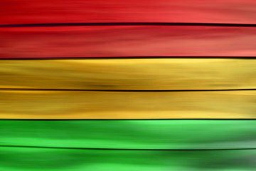 Green red yellow wood sheet background Reggae style