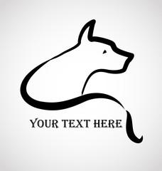 Dog logo vector design