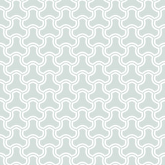 Seamless ornament. Modern stylish geometric pattern with repeating white elements