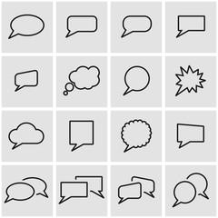 Vector line speach bubbles icon set. Speach Bubbles Icon Object, Speach Bubbles Icon Picture, Speach Bubbles Icon Image - stock vector
