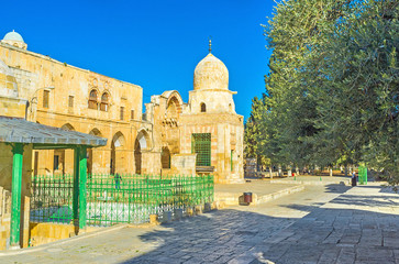 The historic buildings on the Temple Mount