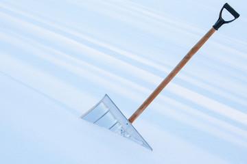 Snowshovel in the snowdrift
