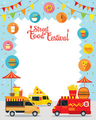Food Truck, Street Food Festival Poster, Frame, Food and Drink, Burger, Pizza