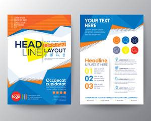 Abstract low polygon triangle shape Poster Brochure Flyer design layout