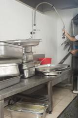 restaurant dish washing station
