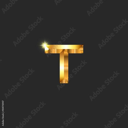 Modern luxury golden letter t logo mockup decoration glistening modern luxury golden letter t logo mockup decoration glistening symbol for business card initial junglespirit Gallery