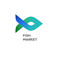 Logo of fish market, label and badge