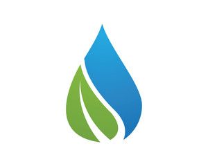 wave water droplet element icons business logo