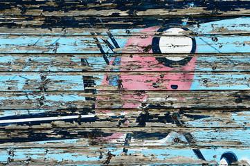 Bild eines alten Flieger an der Wand