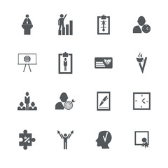 assembly in  flat style icons the theme business