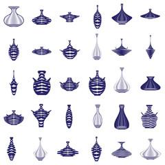 monochrome icon set with amphora